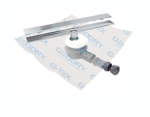stainless steel floor drain / for showers / with horizontal outlet / grated