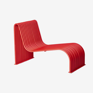 contemporary sun lounger / galvanized steel / powder-coated steel / for public spaces