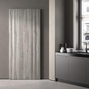 interior door / sliding / wooden / lacquered