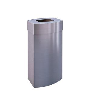 steel trash can