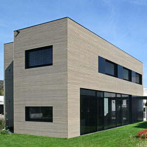 strip cladding / aluminum / composite / natural finish