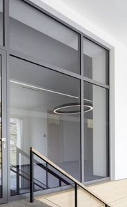 steel patio door / double-glazed / thermally-insulated / security