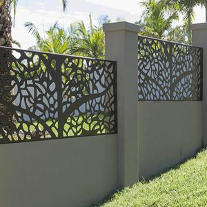 perforated metal sheet / aluminum / for fencing / special