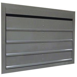 polystyrene ventilation grill / aluminum / rectangular