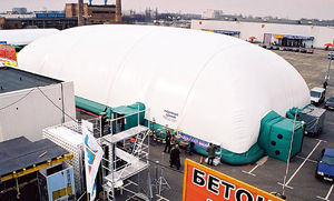 inflatable structure with PVC membrane