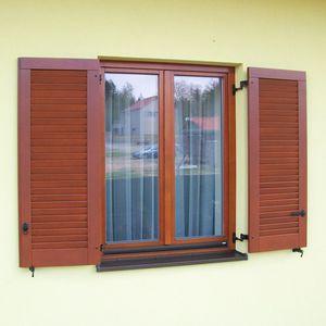 swing shutters / exotic wood / oak / pine