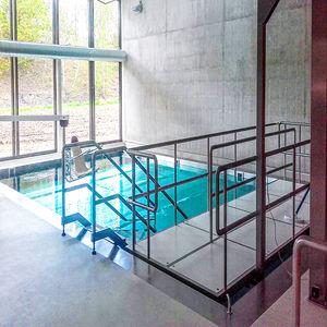 stainless steel access ramp / handicapped / threshold / for raised floors