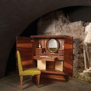 contemporary secretary desk / walnut / oak / maple