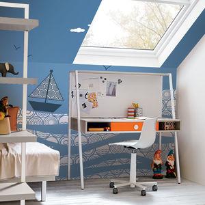 contemporary wallpaper / geometric pattern / wave pattern / blue