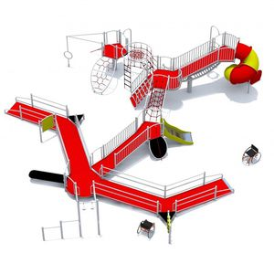 handicapped play structure / for playgrounds / HDPE / stainless steel