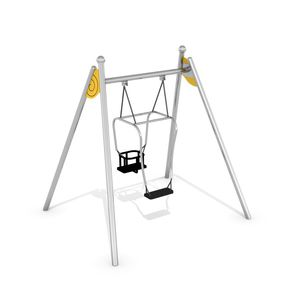 stainless steel swing / double / multi-person / playground