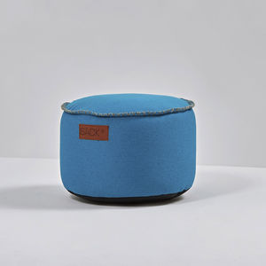 contemporary pouf / cotton / polyester / round