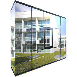 tempered glass panel / thermo-acoustic insulating / for interior / building