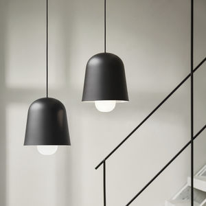 pendant lamp / contemporary / steel / glass