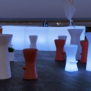 bar counter / polyethylene / upright / illuminated