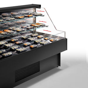 refrigerated display case with shelves