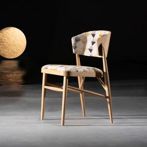contemporary chair / upholstered / ergonomic / fabric