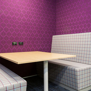 acoustic wallcovering / textile / PET / for hotel