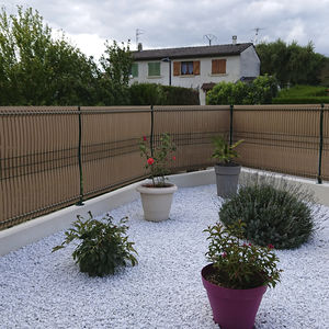 garden fence / for green spaces / louvered / PVC