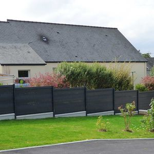 garden fence / for green spaces / with panels / PVC