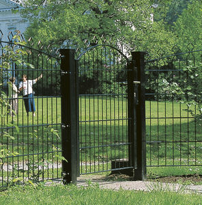 galvanized steel garden gate