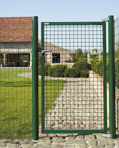 electro-welded steel garden gate / galvanized steel