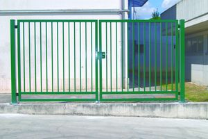 swing gates / galvanized steel / with bars / home