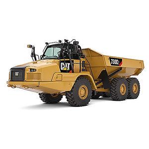 rear unloading dump truck / articulated / rubber-tired / diesel