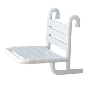 fixed shower seat / hanging / aluminum / commercial