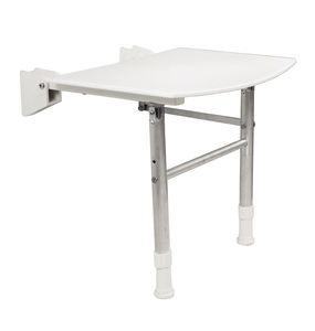 folding shower seat / wall-mounted / polypropylene / commercial