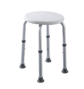 plastic shower stool / aluminum / for healthcare facilities