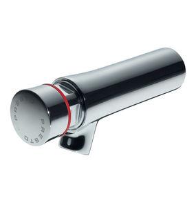 washbasin mixer tap / wall-mounted / chrome-plated brass / self-closing