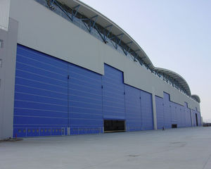 roll-up industrial doors / fabric / security / for hangars