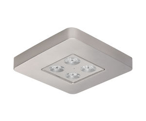 ceiling emergency light / square / LED / aluminum