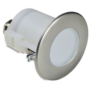 recessed light fixture / LED / round / stainless steel