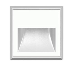 recessed wall light fixture / LED / square / IP65