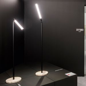 floor lamp / contemporary / aluminum / dimmable