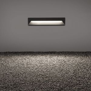 recessed wall light fixture / LED / linear / square