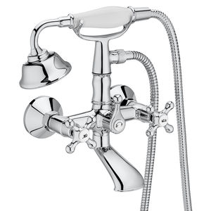 double-handle shower mixer tap