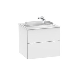 wall-hung washbasin cabinet / particle board / contemporary / with drawers