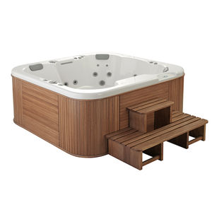 built-in hot tub / above-ground / square / 5-person