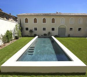 semi-inground swimming pool