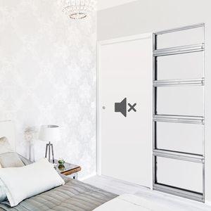 interior door / sliding / wooden / acoustic