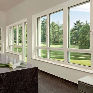 tilt-and-turn window / aluminum / PVC / triple-glazed