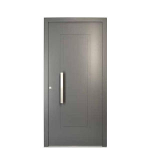 entry door / swing / aluminum / PVC