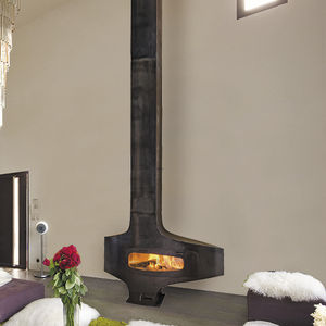 wood-burning fireplace / gas / original design / closed hearth