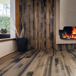 engineered parquet floor / glued / clip-on / oiled