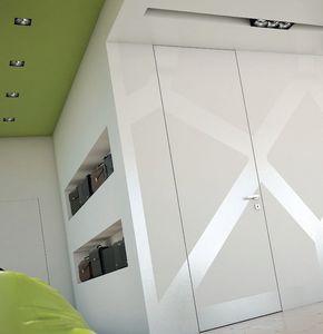 interior door / swing / wooden / full-height
