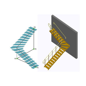 design software / modeling / for steel structures / for stairs