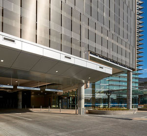 cladding metal mesh / for facade / solar shading / metal